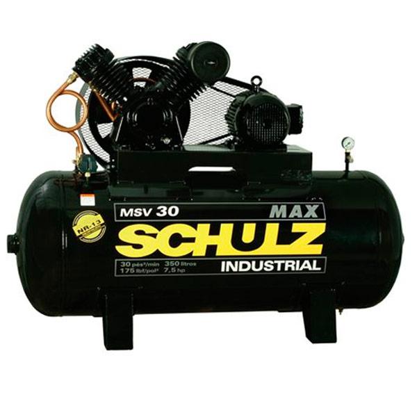Compressor de ar Industrial Alta Pressão Schulz 350 litros - 30 pés