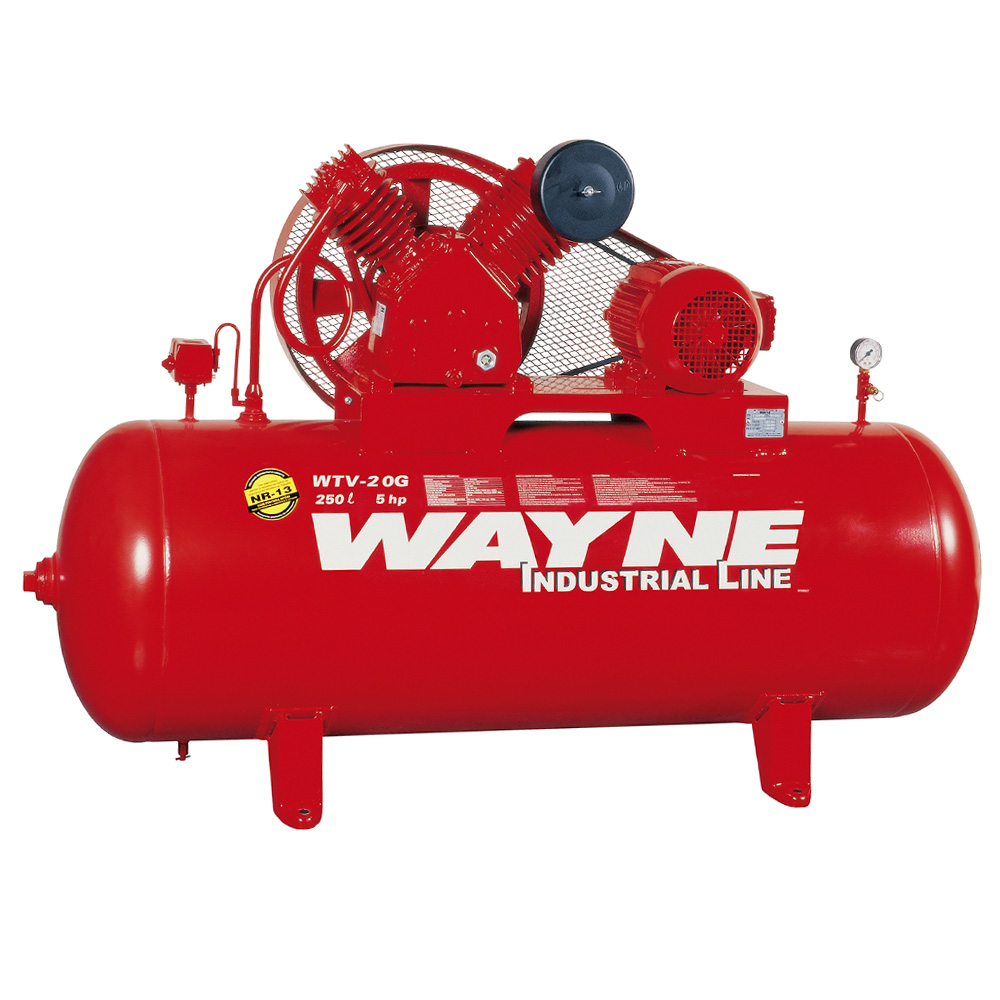 Compressor de Ar Industrial Alta Pressão Wayne 250 litros - 20 pés