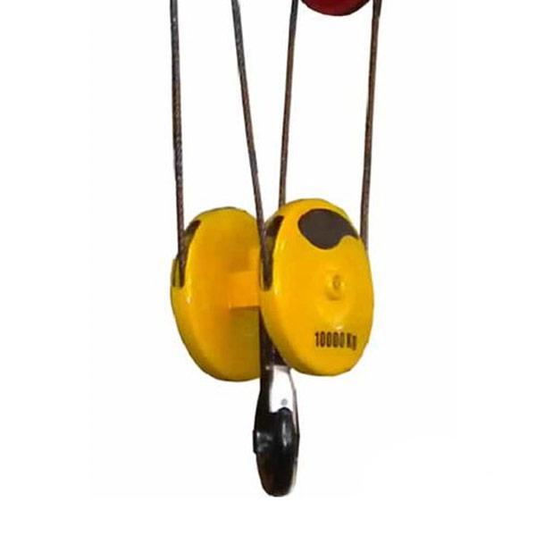 Talha Elétrica 10 Toneladas de cabo de aço com Trolley