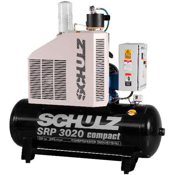 Compressor de Ar Parafuso Schulz Compact 20 HP - 250 Litros