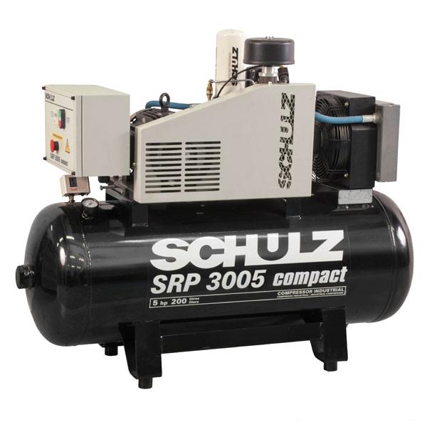Compressor de Ar Parafuso Schulz Compact 5 HP - 200 Litros