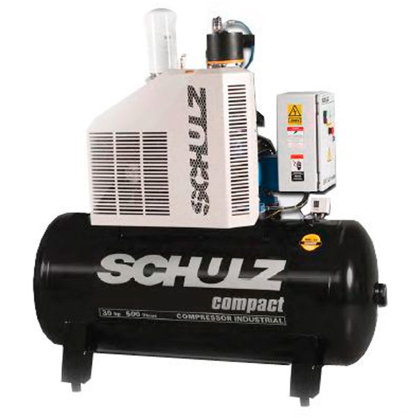 Compressor de Ar Parafuso Schulz Compact 40 HP - 500 Litros