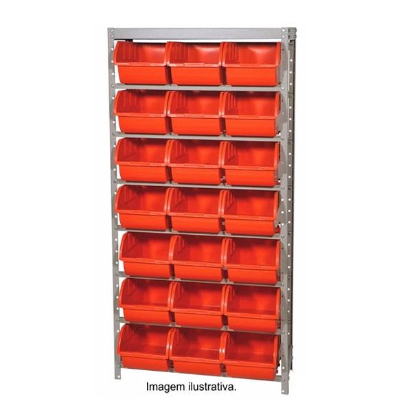 Estante Gaveteiro com 21 caixas de cor verde - Marcon