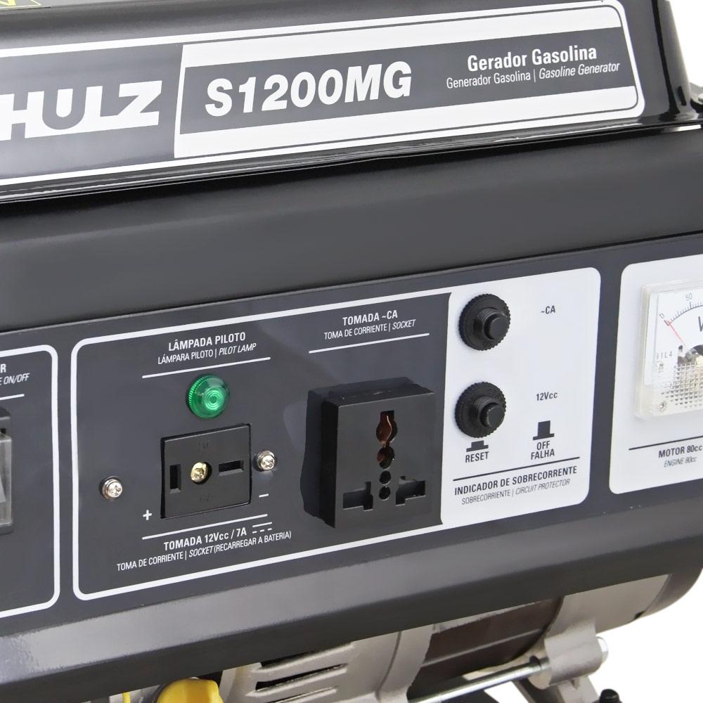 Gerador de Energia Portátil à Gasolina Schulz 1 KVA