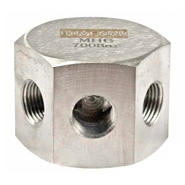 Manifold 6 Vias MH6 Hexagonal 3/8 pol