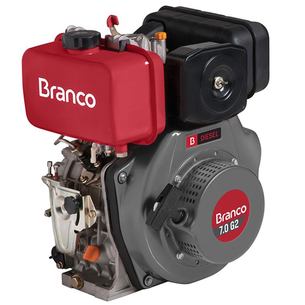 Motor Horizontal à Diesel Branco 7 HP G2