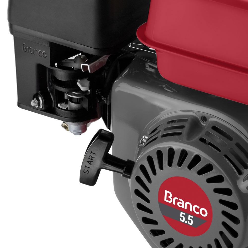 Motor Horizontal à Gasolina Branco 5.5 HP