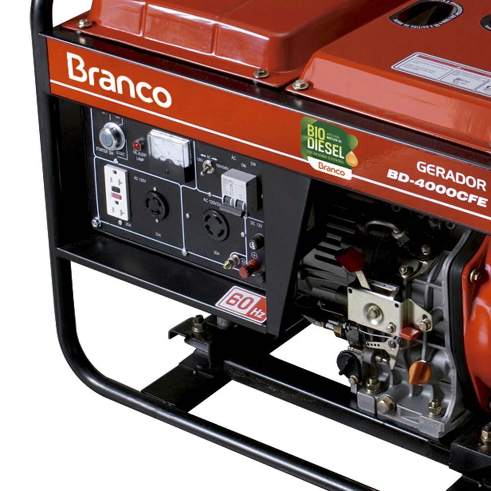 Gerador de Energia à Diesel Branco 3.3 KVA