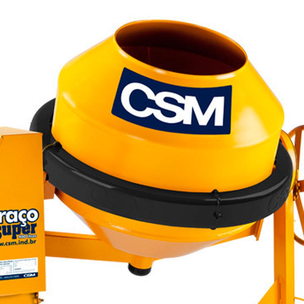 Betoneira 1 Traço Super CSM 400 litros com Motor 2 HP