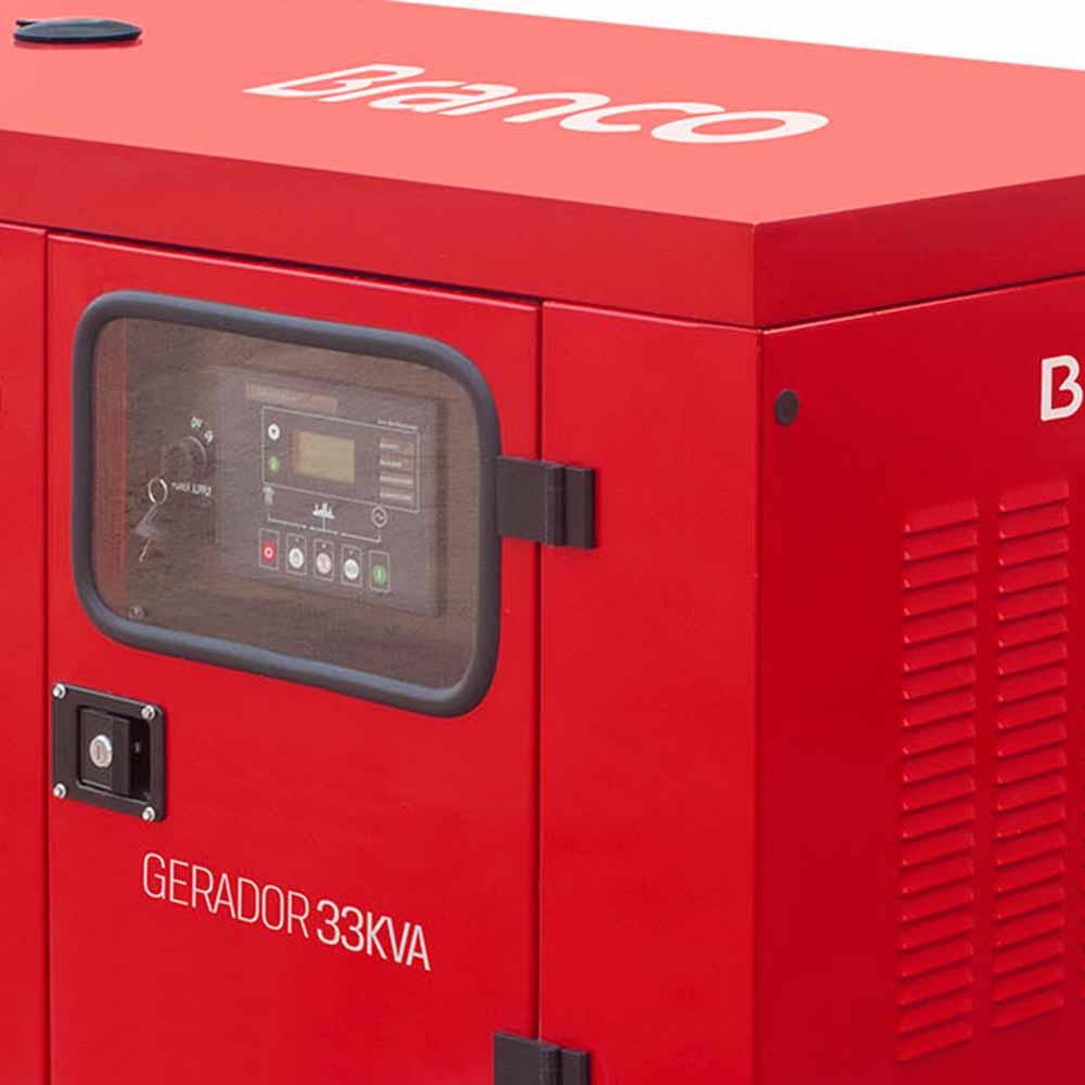 Gerador de Energia à Diesel 4T Branco 33.75 KVA com ATS