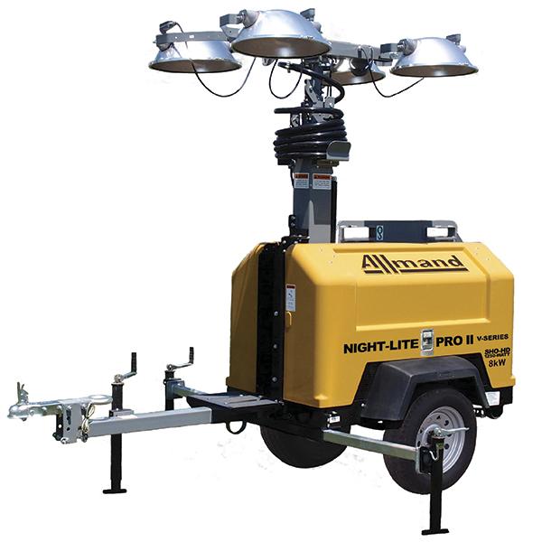 Torre de Iluminação Móvel Allmand - Motor Caterpillar 8 kW
