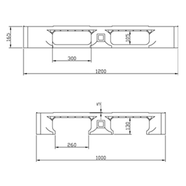 Pallet de Plástico 1210-3 Preto
