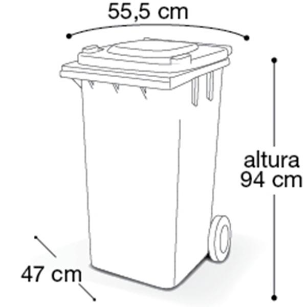 Carrinho Coletor de Lixo com Tampa 120 Litros Branca