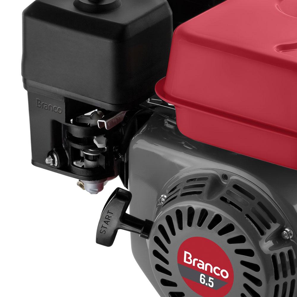 Motor Horizontal à Gasolina Branco 6.5 HP