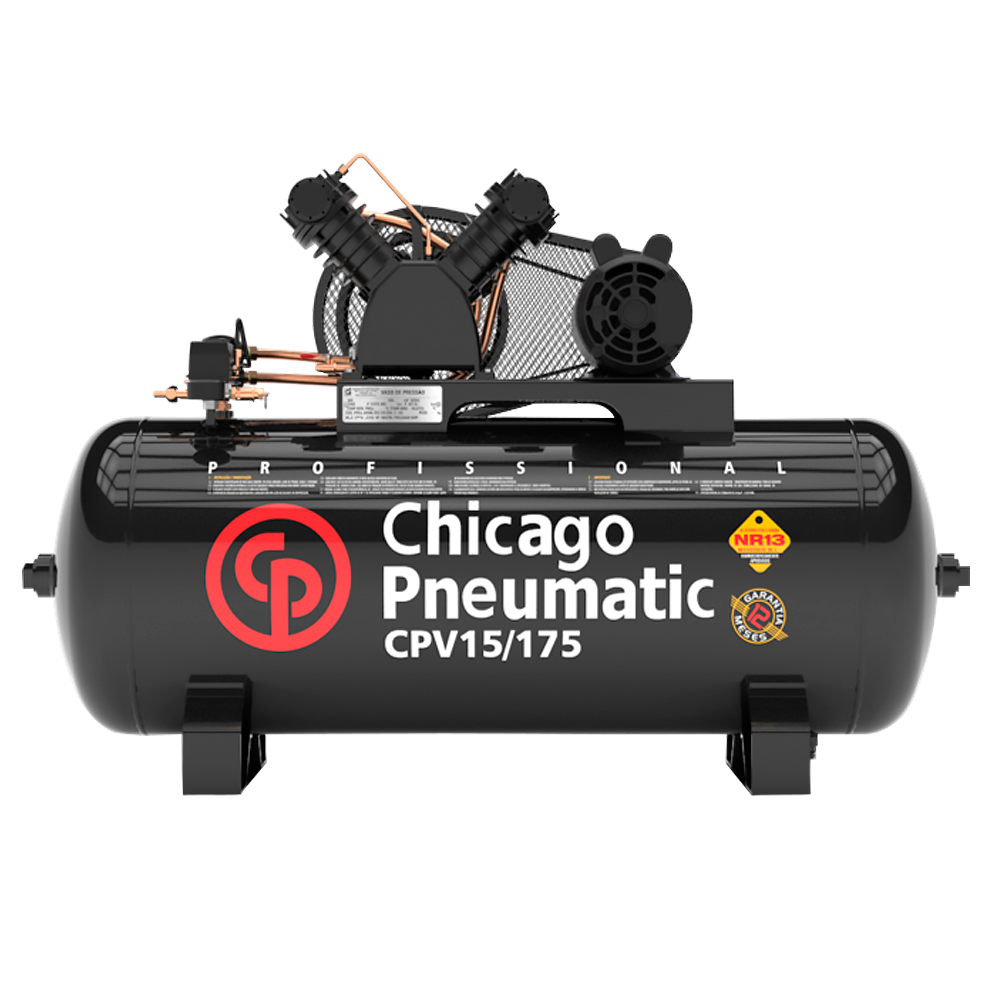 Compressor de Ar Chicago Pneumatic 175 Litros - 15 Pés
