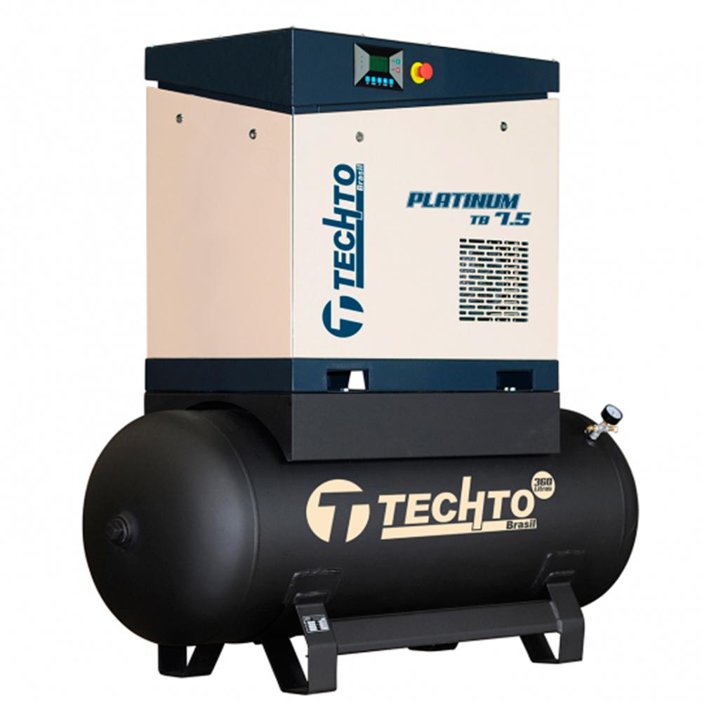 Compressor de Ar Parafuso TechTo 7.5 HP - 360 Litros