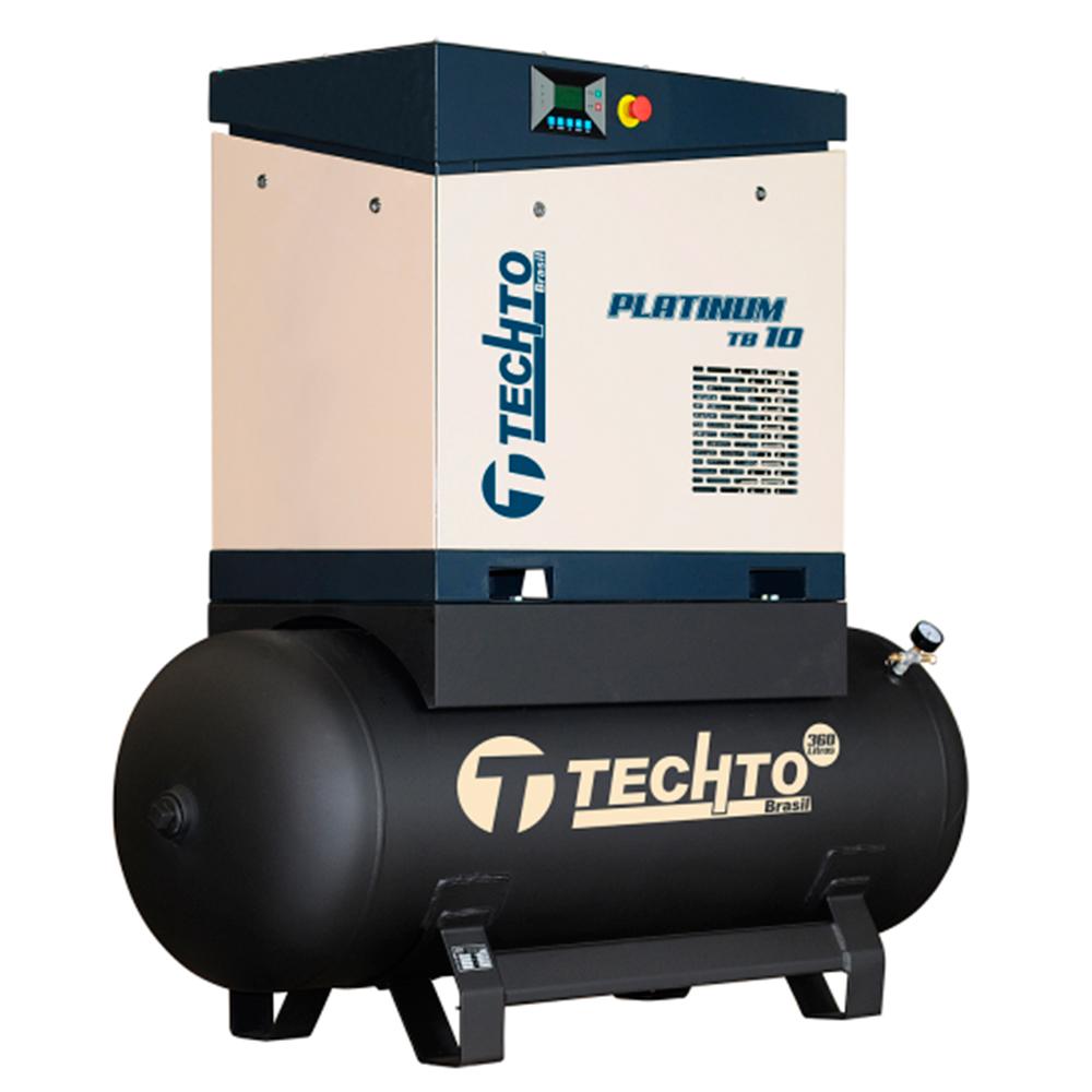 Compressor de Ar Parafuso TechTo 10 HP - 360 Litros