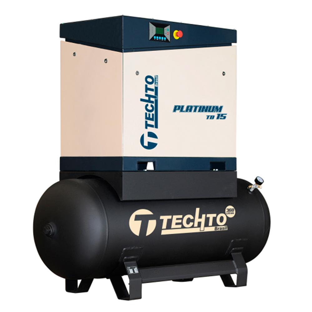 Compressor de Ar Parafuso TechTo 15 HP - 360 Litros