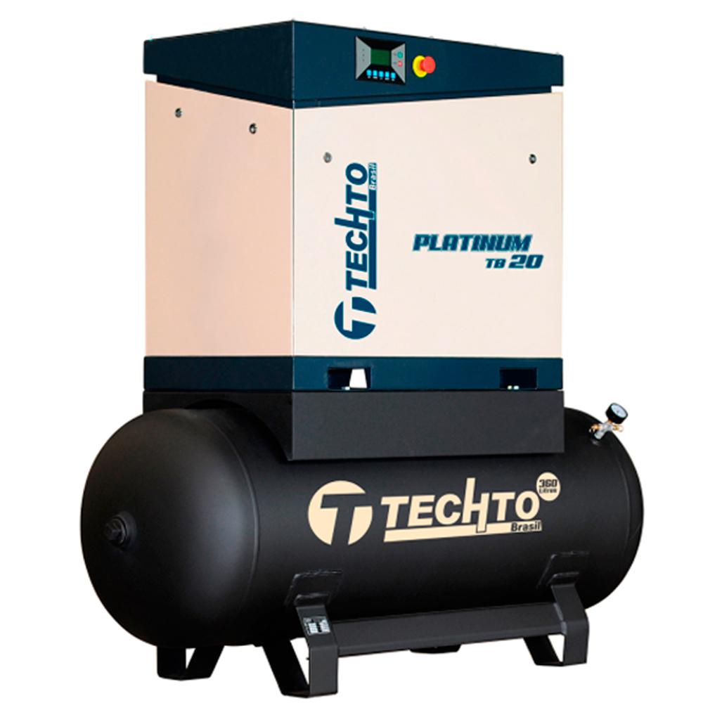 Compressor de Ar Parafuso TechTo 20 HP - 360 Litros