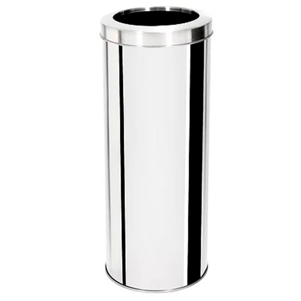 Lixeira com Tampa Aro Aço Inox Ecobin 60 litros