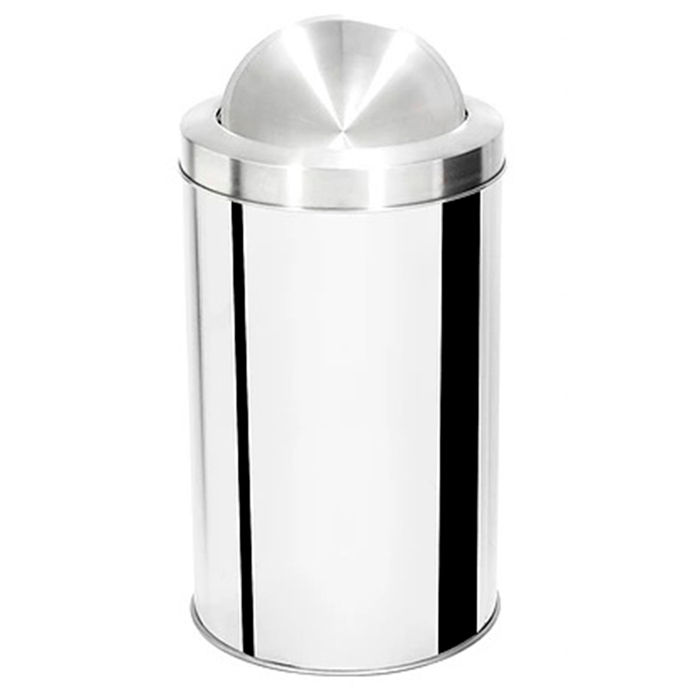 Lixeira com Tampa Basculante Aço Inox Ecobin 40 litros