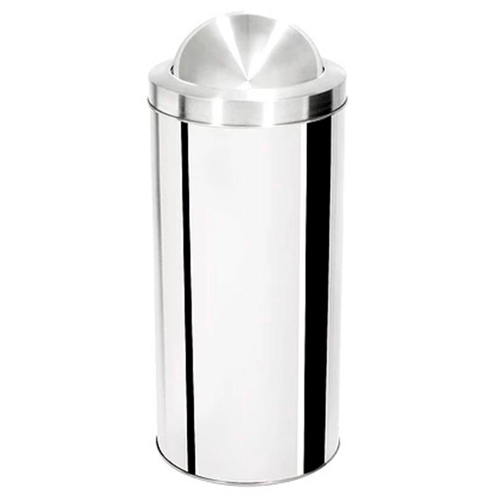 Lixeira com Tampa Basculante Aço Inox Ecobin 50 litros