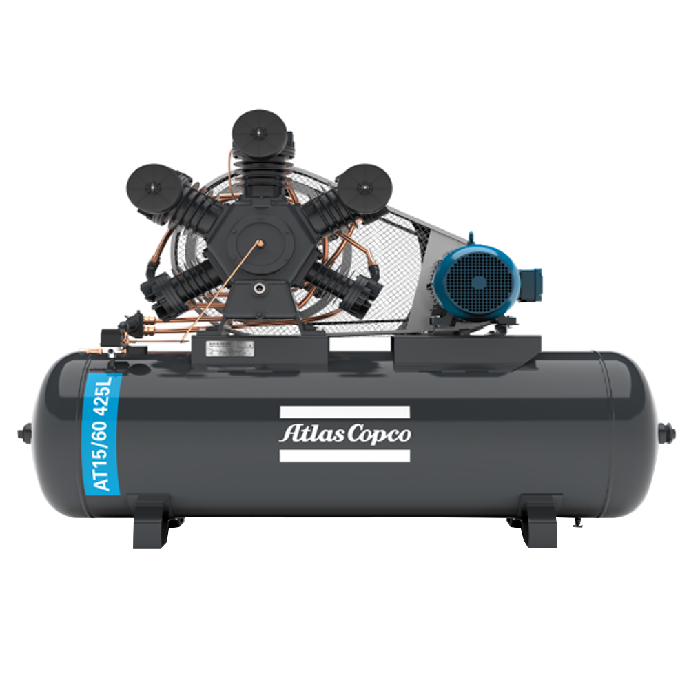 Compressor de Ar Premium Atlas Copco 425 litros - 60 Pés