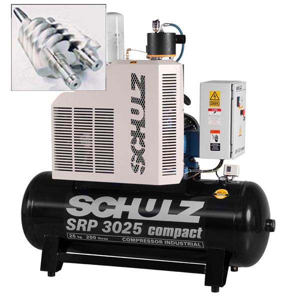 Compressor de Ar Parafuso Schulz Compact 25 HP - 250 Litros