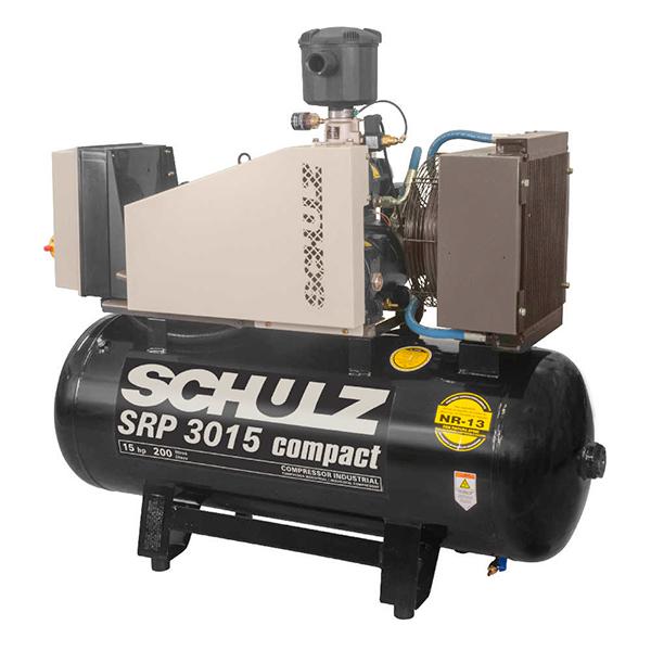 Compressor de Ar Parafuso Schulz Compact 15 HP - 200 Litros