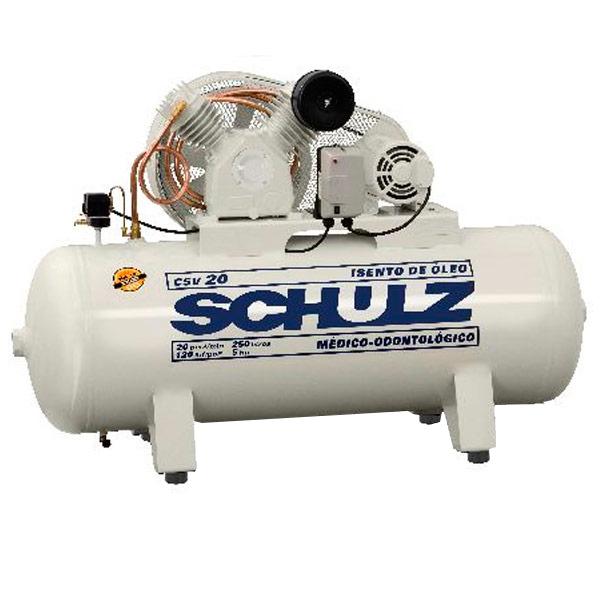 Compressor Médico Odontológico Schulz 260 litros - 20 pés