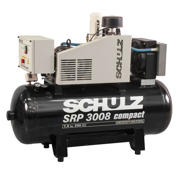 Compressor de Ar Parafuso Schulz Compact 7.5 HP - 200 Litros