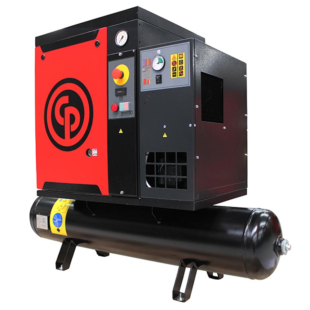 Compressor de Ar Parafuso Chicago Pneumatic 10 HP - 265 Litros com Secador