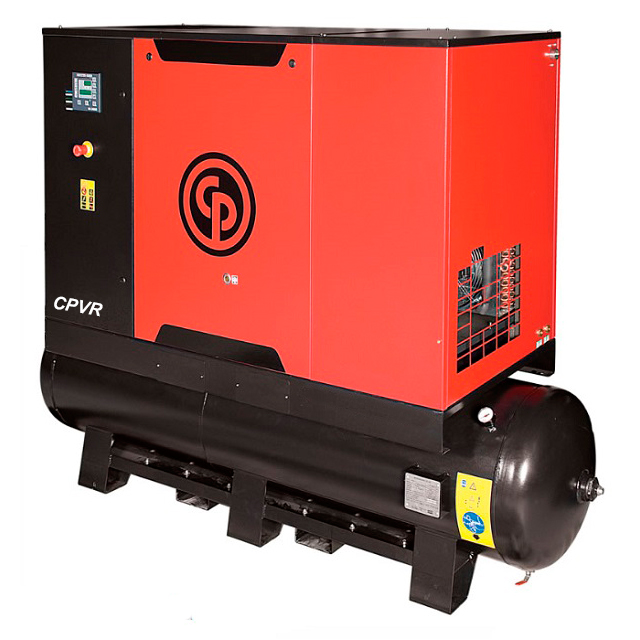 Compressor de Ar Parafuso Chicago Pneumatic 30 HP - 475 Litros com Secador e Filtro