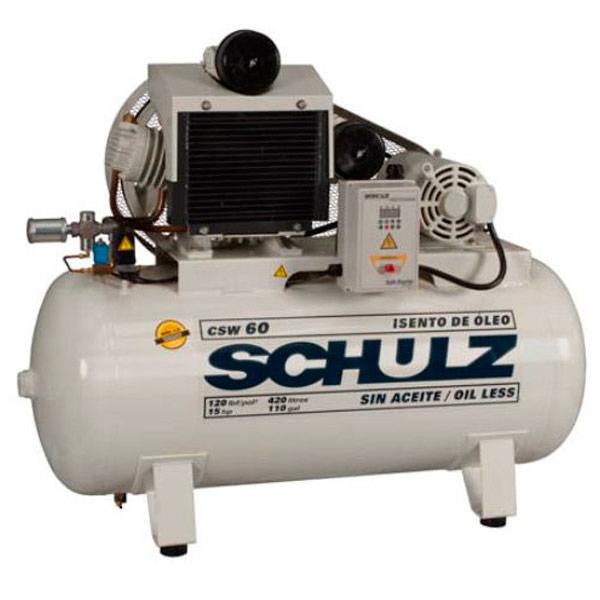 Compressor Médico Odontológico Schulz 420 litros - 60 pés